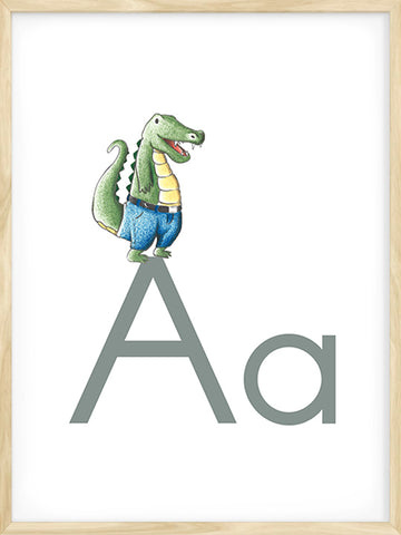 A-is-for-Alligator-beige-Alphabet-Kids-print