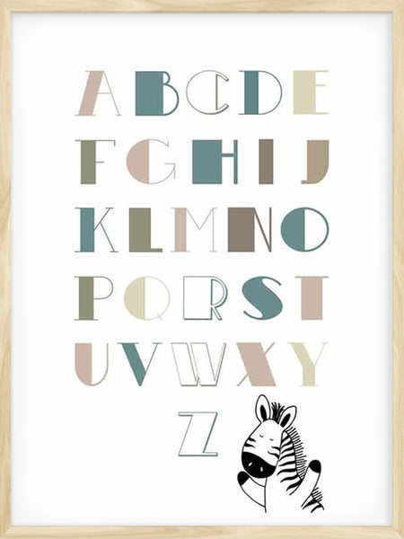 Alphabet neutral colours - Poster