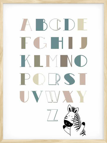 ABC-animal-nursery-Print-wall-art