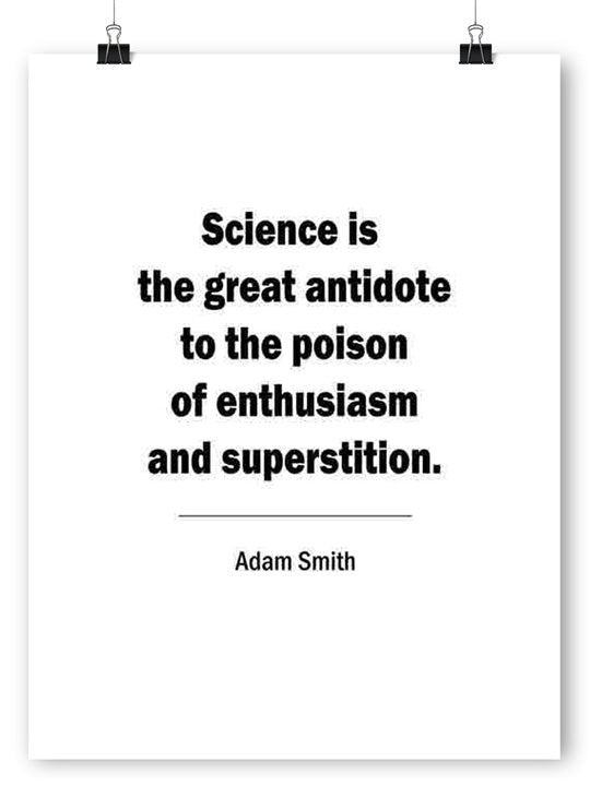 Adam Smith's Quote - Poster