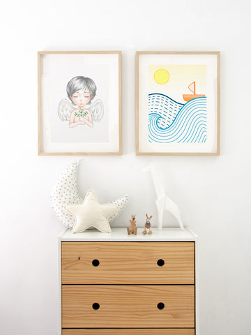 Posterwol-cute-boat-art-poster-decor-for-kids-Scandinavian-design