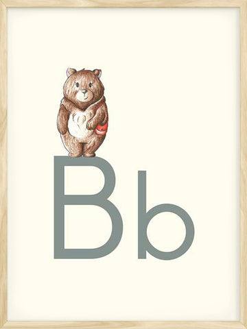 B-is-for-Bear-Alphabet-letter-nursery-print-with-beige-background