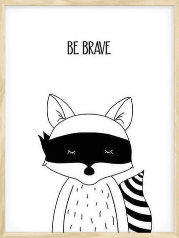 Be-Brave-kids-nursery-nordic-poster