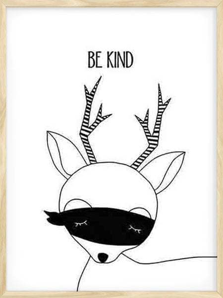 Be Kind Deer - Poster