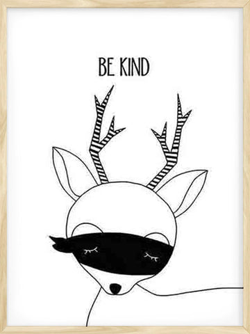 Be-Kind-Deer-Kids-minimalist-cute-scandinavian-art-print