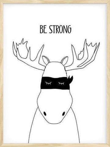 Be-Strong-Moose-Kids-nursery-Print