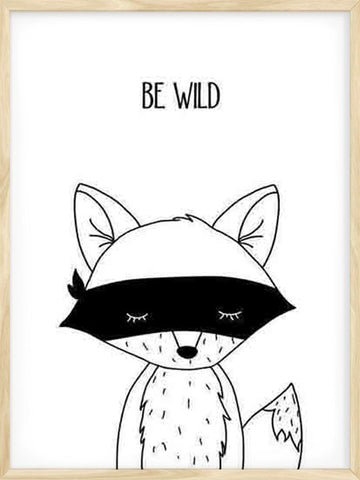 Be-Wild-Fox-Kids-minimalist-Nursery-print