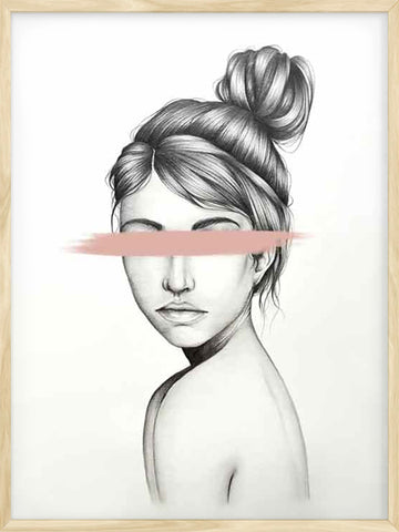 Blinded-by-Love-female-portrait-art-poster-Posterwol