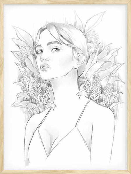Botanical Girl - Poster