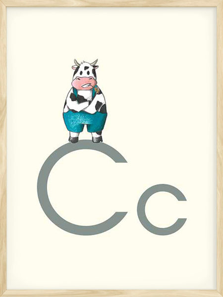 C is for Cow - Poster