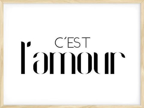 C'est-l'amour-Scandinavian-Poster-with-Frame