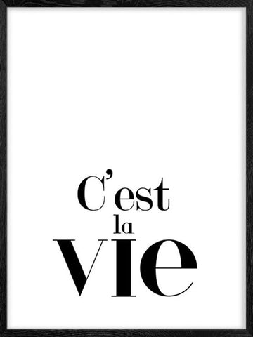 C'est-la-Vie-minimalist-decor-Poster-with-Frame