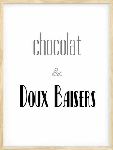 Chocolat-&-Doux-baisers-cuisine-Poster-with-Frame