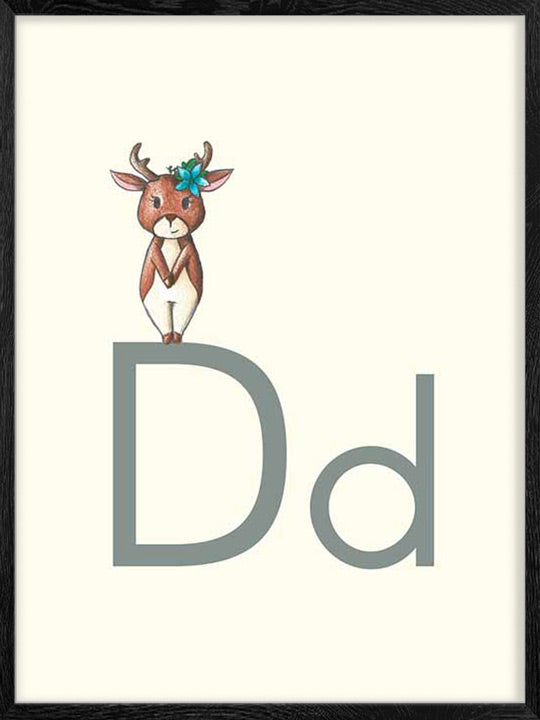 D is for Deer - Poster