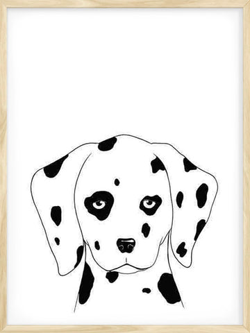 Dalmatian-Kids-nursery-art-print-in-black-and-white