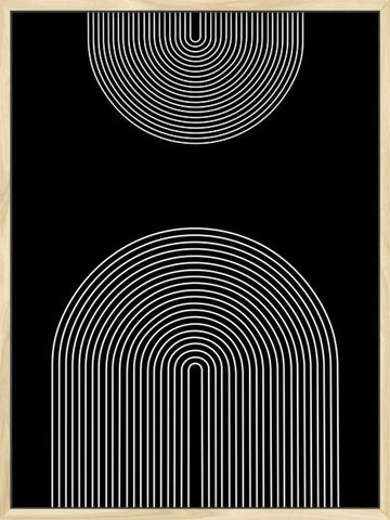 Double-Rainbow-in-Black-Background-MInimalist-Art-Poster-Posterwol