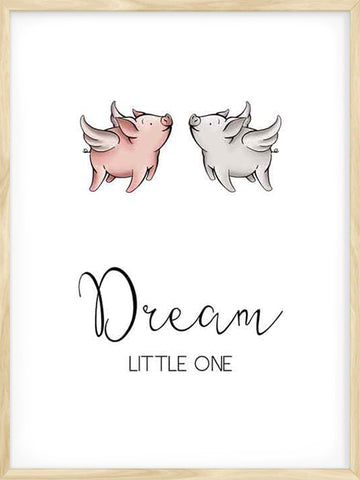 Dream-Little-One-Piggies-cute-art-print-affiche-for-kids
