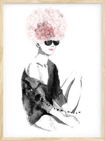 Floral-Afro-2-watercolour-modern-print-decor