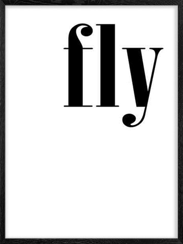 Fly-word-minimalist-nordic-poster Posterwol