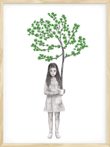 Four-Seasons-Summer-Girl-with-Tree-kids-poster