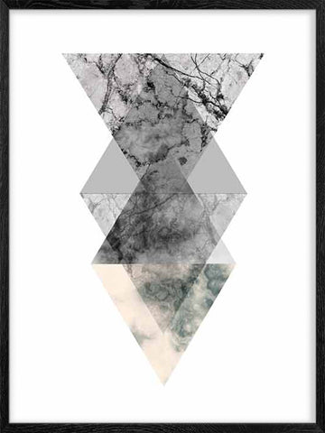 Geometric-marble-shapes-Scandinavian-style-print-affiche