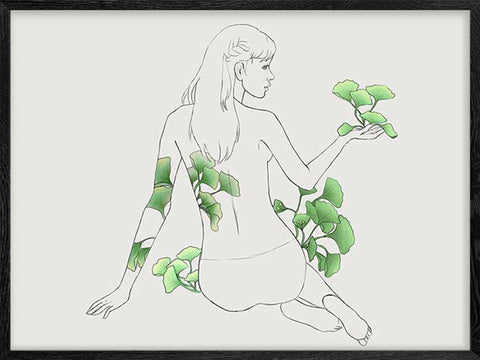 Ginkgo-Girl-Sketch-print-decor