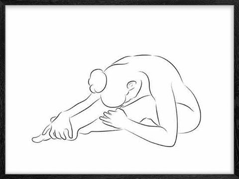 Stretching-Girl-2-modern-minimalist-sketch-poster