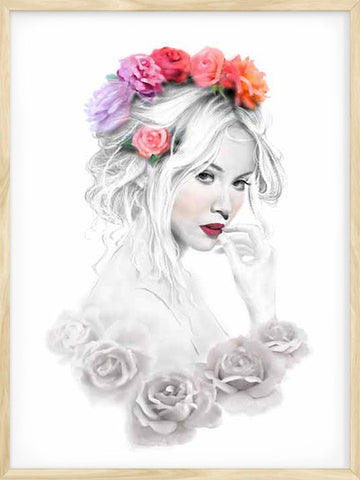 Girl-with-Flowers-Scandinavian-girl-portrait-painting-modern-print
