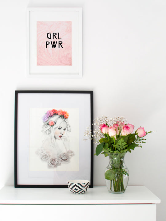 Floral Girl - Poster