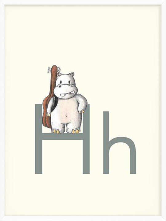 H is for Hippo - Poster