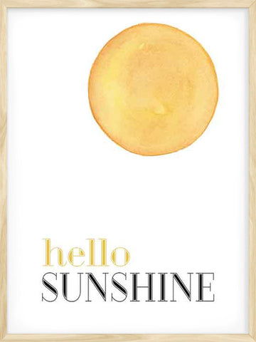 Hello-Sunshine-watercolor-minimalist-poster