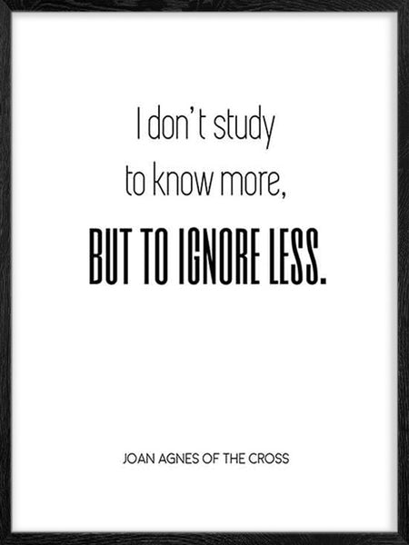 I don't Study - Poster