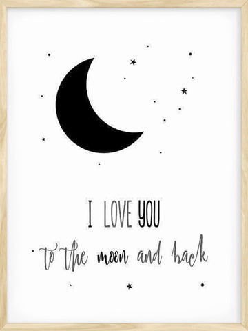 I-love-you-To-the-Moon-and-back-Kids-minimalist-Poster