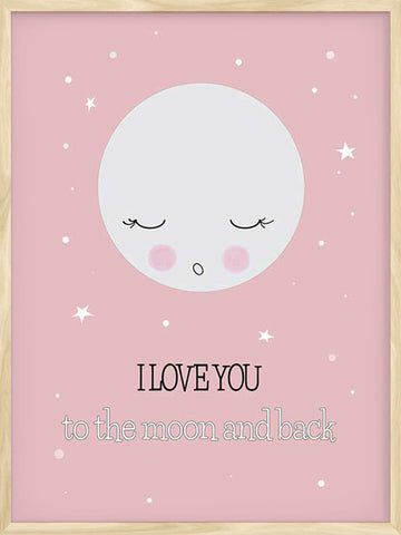 I-love-you-to-the-moon-and-back-Pink-kids-nursery-Nordic-print