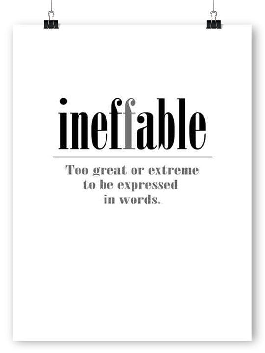 Ineffable - Poster