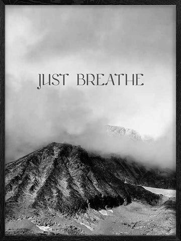 Just-Breathe-Nature-typography-poster-with-frame