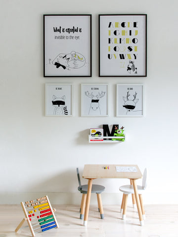Alphabet-Poster-Black-and-yellow-nursery-print-with-cute-zebra-illustration