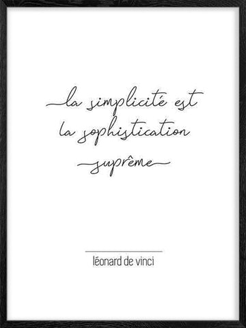 Leonard-de-Vinci-quote-citation-Affiche-Poster-with-frame