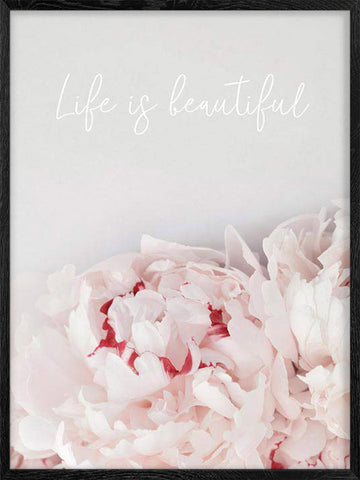 Life-is-Beautiful-floral-motivational-poster