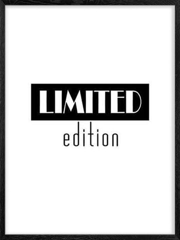 Limited-Edition-Black-and-white-typography-Poster-with-Black-Frame