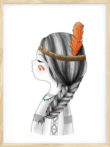Little-Indian-Girl-Kids-nursery-poster