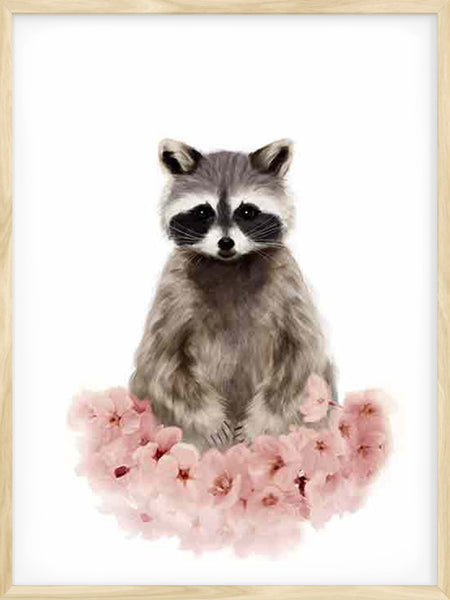 Nursery Animals / Raccoon - Poster