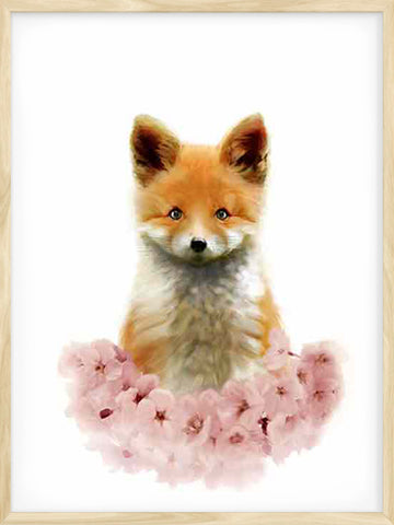 Little-Red-Fox-kids-baby-nursery-Nordic-art-print
