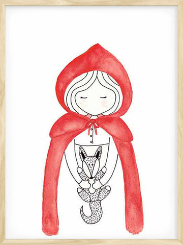 Little-Red-Riding-Hood-kids-nursery-art-print