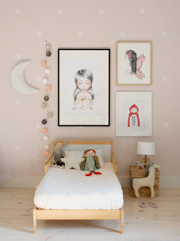 Libra-zodiac-little-girl-scandinavian-design-wall-art-for-kids