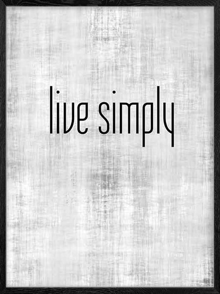 Live Simply - Poster