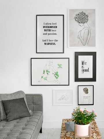 Life-is-Good-Typography-Poster-with-frame