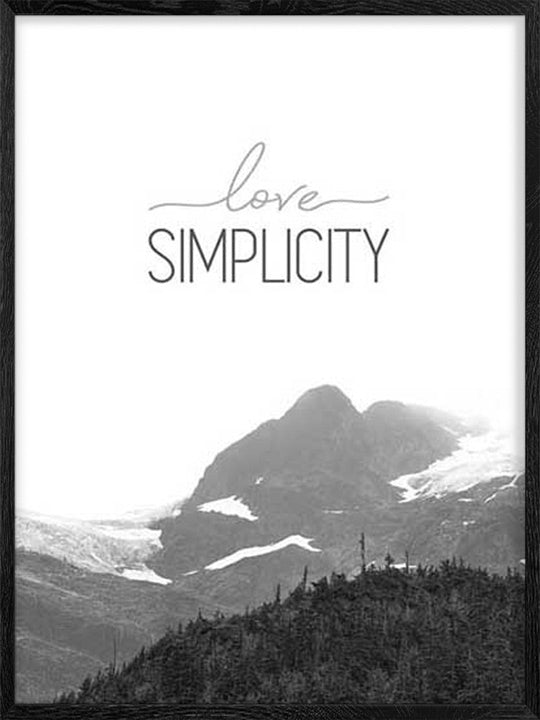 Love Simplicity - Poster