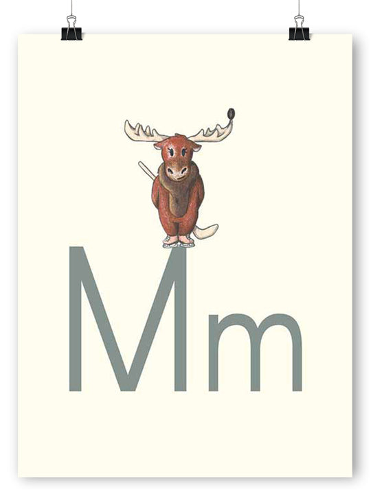 M is for Moose - Poster