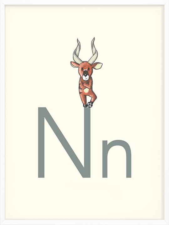 N is for Nyala - Poster